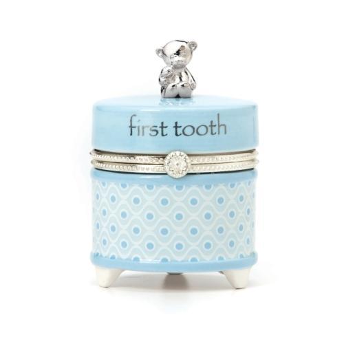 Blue First Tooth Keepsake Box
