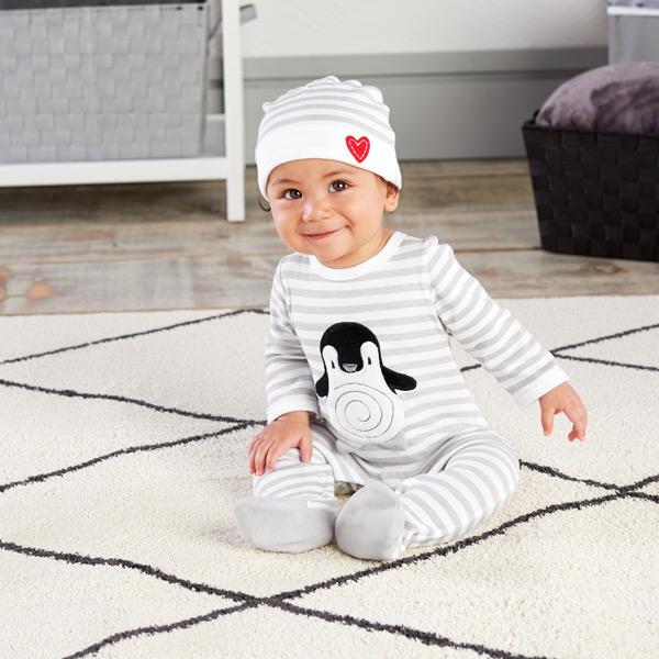 Penguin Pajamas 2-Piece Layette Set