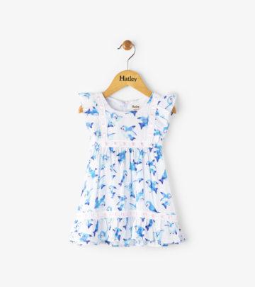 Blue Birds Fly Baby Birthday Dress by Hatley