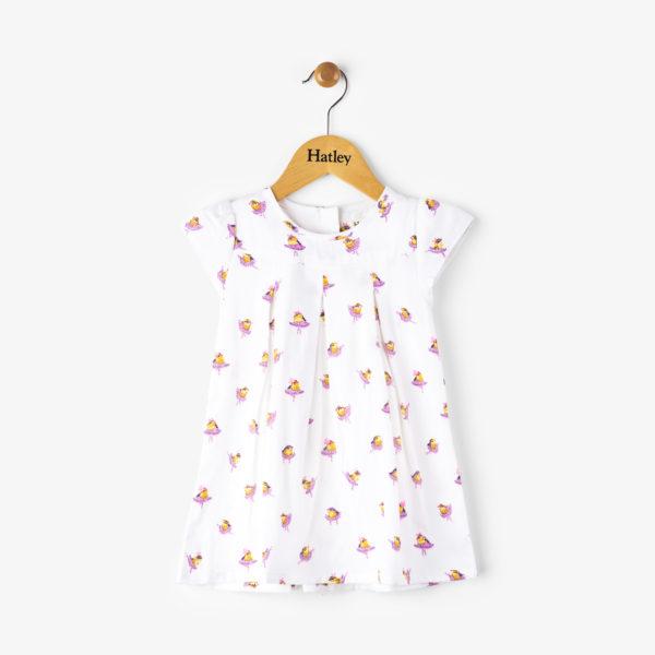Ballerina Birds Baby Pleated Dress by Hatley