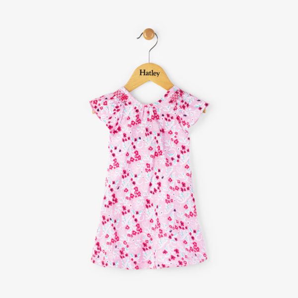 Floral Baby Flutter Sleeve Dress by Hatley