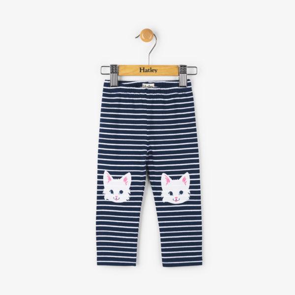 Cat Stripe Baby Fashion Leggings by Hatley