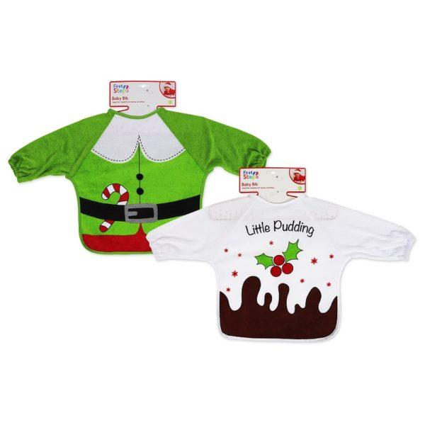 Long Sleeve Christmas Baby Bib