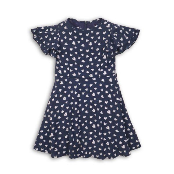 Girls All Over Print Heart Dress by Minoti UK