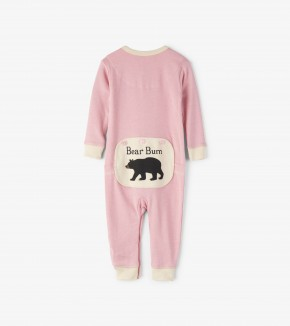 Pink Bear Bum Baby Union Suit by Hatley Little Blue House