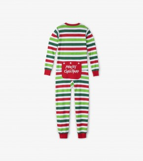 Christmas Stripe Kids Union Suit by Hatley