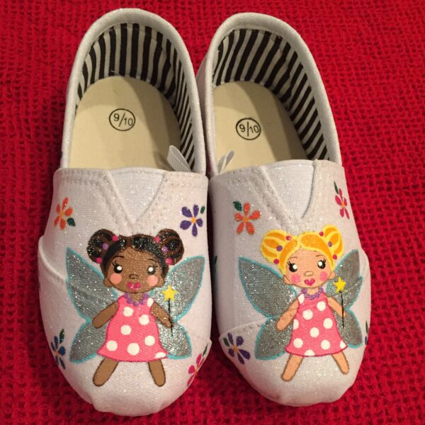 Hand painted fairy kids shoes