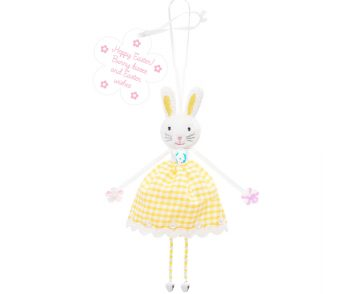 Hoppy Easter, Bunny Kisses, Easter Wishes Bunny Decoration