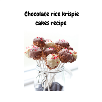 Baking with Kids Recipes Chocolate Rice Krispie Cakes