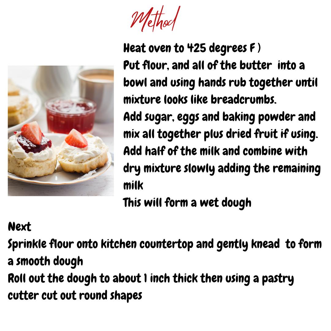 Kids baking scones